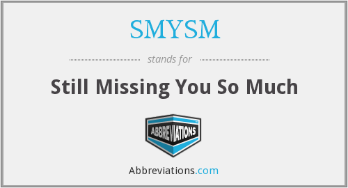What does SMYSM stand for?