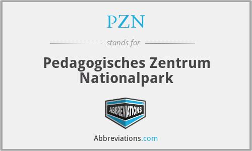 PZN - Paedagogisches Zentrum Nationalpark