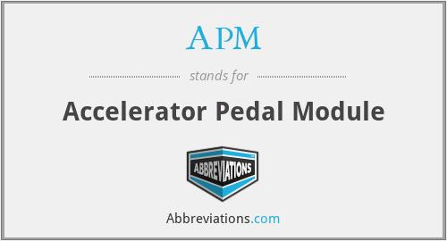 APM - Accelerator Pedal Module