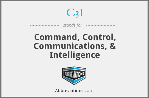 What does C3I stand for?