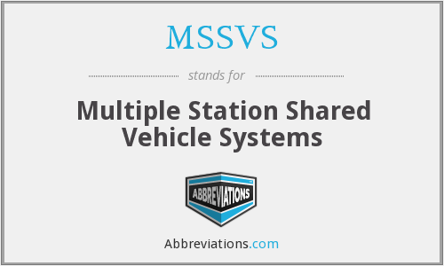 What does MSSVS stand for?