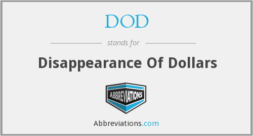 What does DOD stand for?