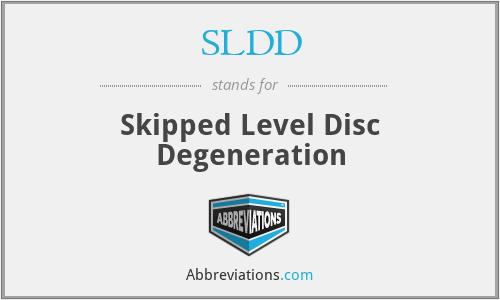 SLDD - Skipped Level Disc Degeneration