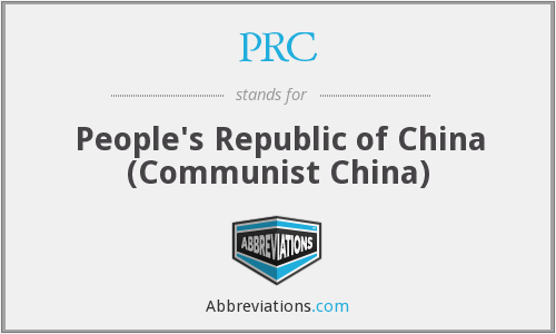 PRC - People's Republic of China (Communist China)