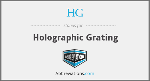 HG - Holographic Grating