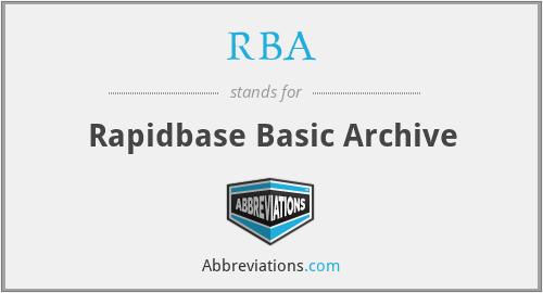 RBA - Rapidbase Basic Archive