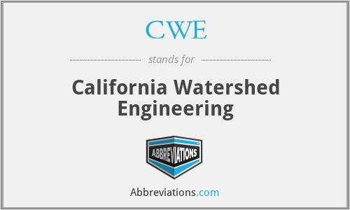 CWE - California Watershed Engineering