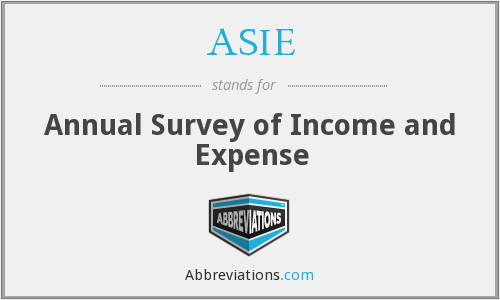 What does ASIE stand for?