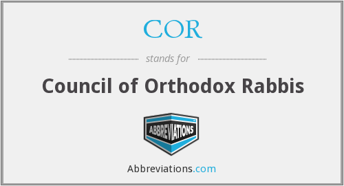 COR - Council of Orthodox Rabbis