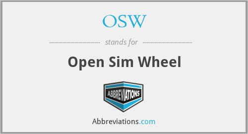 OSW - Open Sim Wheel