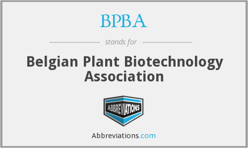 BPBA - Belgian Plant Biotechnology Association