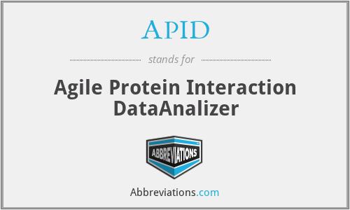 APID - Agile Protein Interaction DataAnalizer