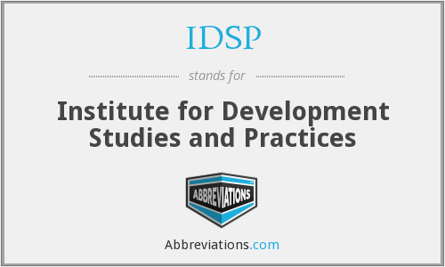 What does IDSP stand for?