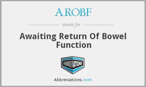 What does AROBF stand for?