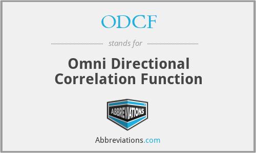 ODCF - Omni Directional Correlation Function