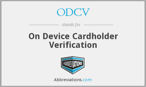 What does ODCV stand for?
