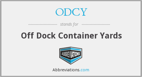 What does ODCY stand for?