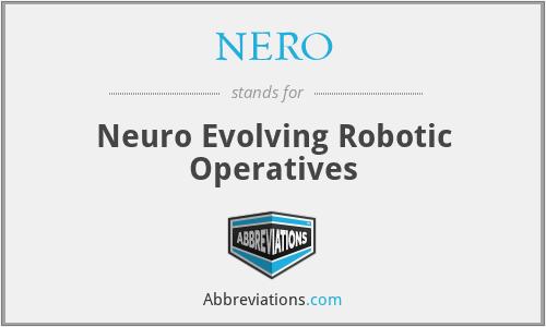 NERO - Neuro Evolving Robotic Operatives