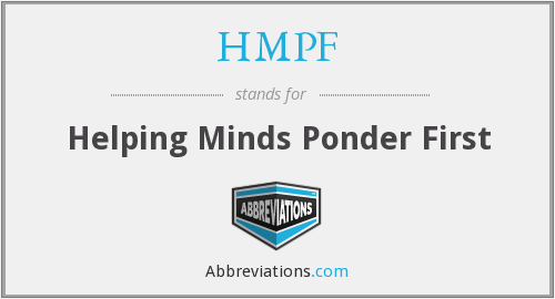 HMPF - Helping Minds Ponder First
