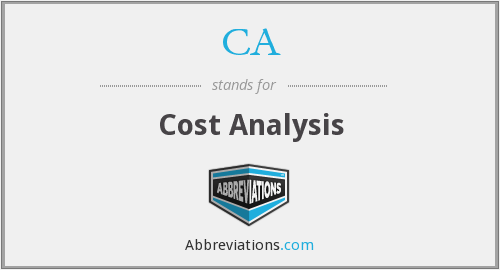 CA - Cost Analysis