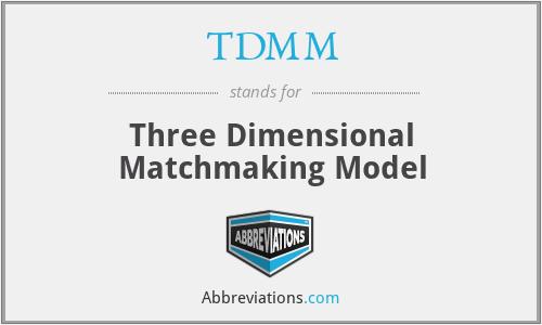 TDMM - Three Dimensional Matchmaking Model