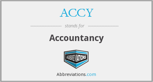 ACCY - Accountancy
