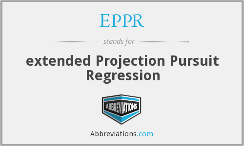 EPPR - extended Projection Pursuit Regression