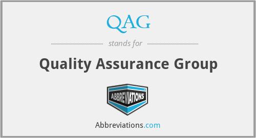 QAG - Quality Assurance Group