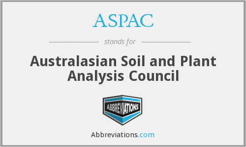 ASPAC - Australasian Soil and Plant Analysis Council