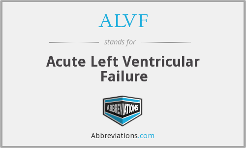 ALVF - Acute Left Ventricular Failure