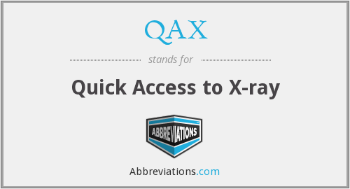 What does QAX stand for?