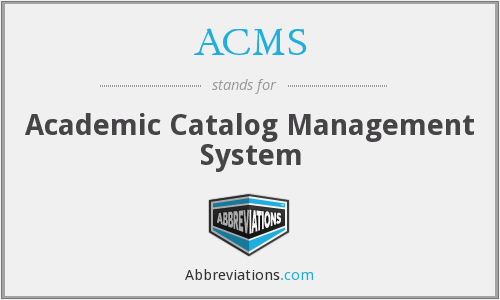 ACMS - Academic Catalog Management System