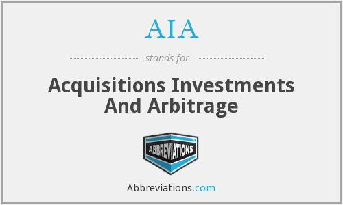 AIA - Acquisitions Investments And Arbitrage