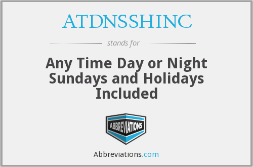 What does ATDNSSHINC stand for?