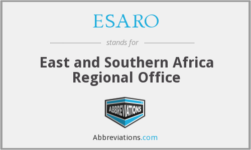 What does ESARO stand for?