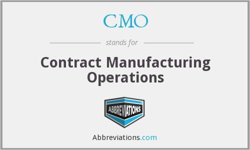 CMO - Contract Manufacturing Operations