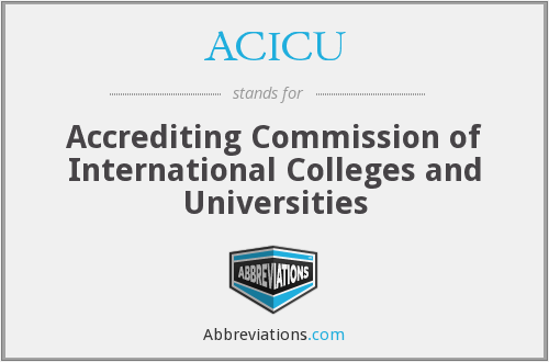What does ACICU stand for?