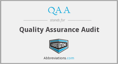 QAA - Quality Assurance Audit