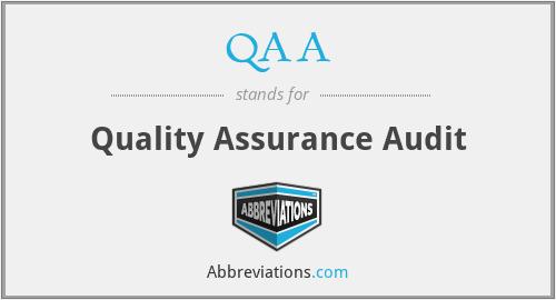 QAA - Quality Assurance Audit