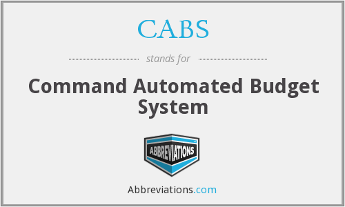 CABS - Command Automated Budget System