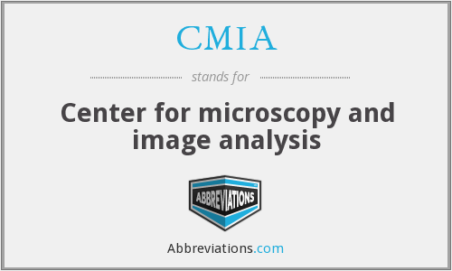 CMIA - Center for microscopy and image analysis