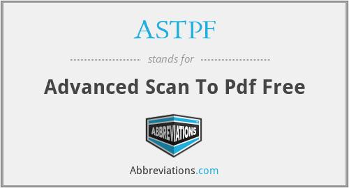 ASTPF - Advanced Scan To Pdf Free