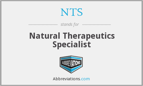 NTS - Natural Therapeutics Specialist