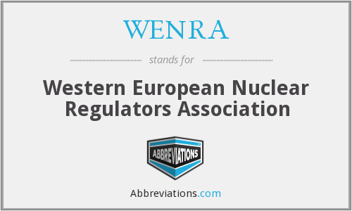 What does WENRA stand for?