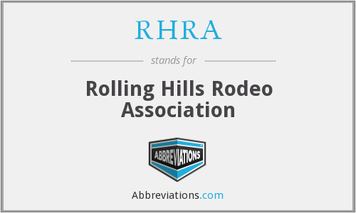 RHRA - Rolling Hills Rodeo Association