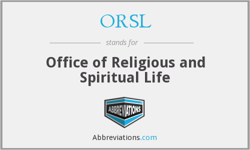 What does ORSL stand for?