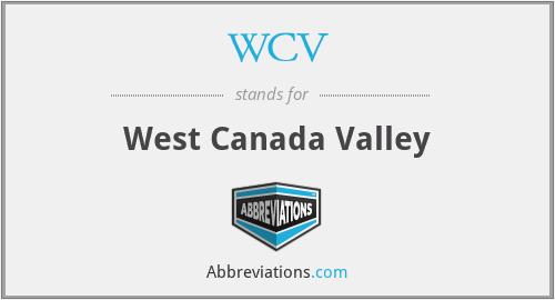 WCV - West Canada Valley