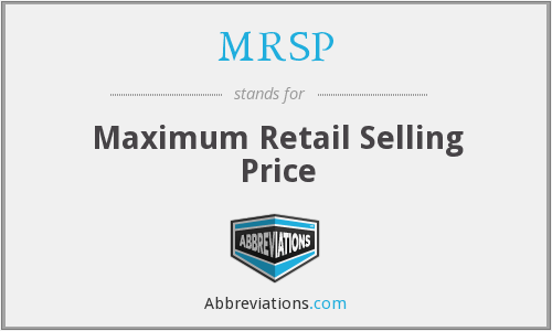 What does MRSP stand for?