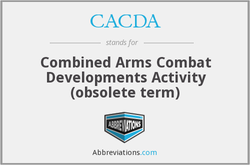 CACDA - Combined Arms Combat Developments Activity (obsolete term)