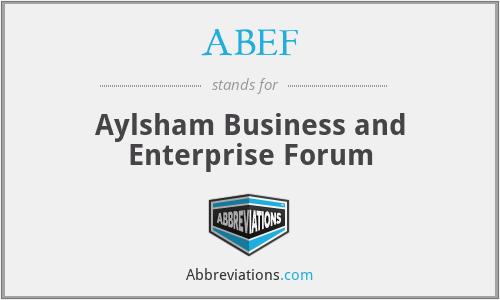 ABEF - Aylsham Business and Enterprise Forum